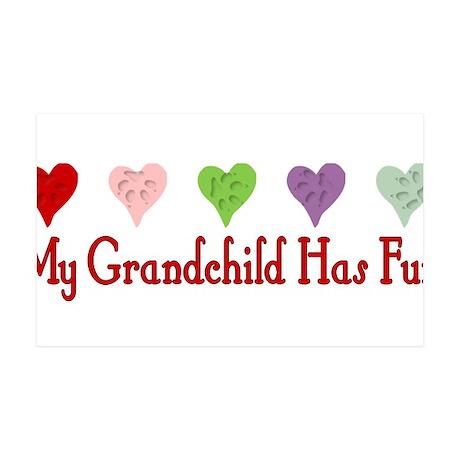 Furry Grandchild 38.5 x 24.5 Wall Peel