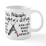 Dad's Philosophy 20 oz Ceramic Mega Mug