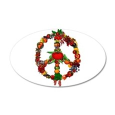 Veggie Peace Sign Wall Decal