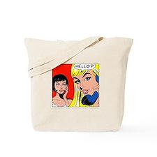 Comic Pop Art Girl Tote Bag
