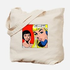 Comic Pop Art Girl Tote Bag