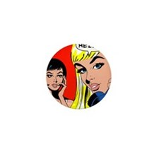 Comic Pop Art Girl Mini Button (10 pack)