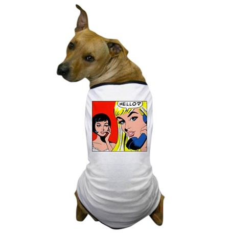 Comic Pop Art Girl Dog T-Shirt