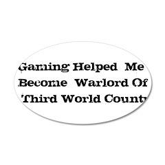 Gaming Warlord 38.5 x 24.5 Oval Wall Peel
