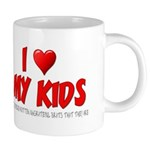 I Love My Kids 20 oz Ceramic Mega Mug