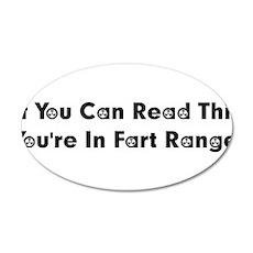 Fart Range 22x14 Oval Wall Peel