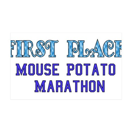 Mouse Potato Marathon 38.5 x 24.5 Wall Peel