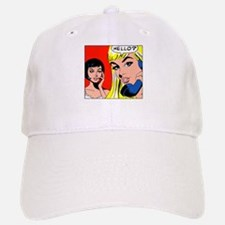 Comic Pop Art Girl Baseball Baseball Cap