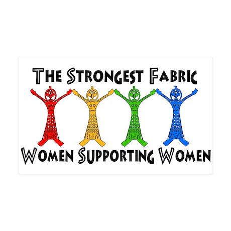 Women Supporting Women 35x21 Wall Decal