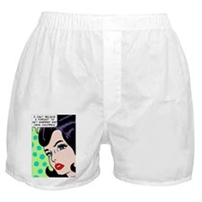 I can't believe, pop art girl Boxer Shorts