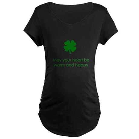 Irish Blessing Maternity Dark T-Shirt