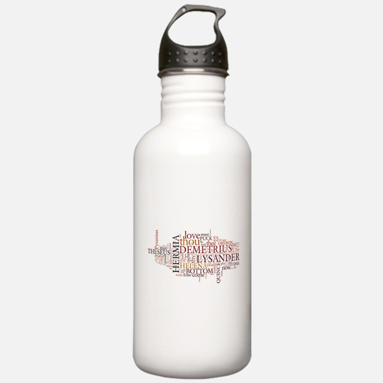 Midsummer Night's Wordle Water Bottle
