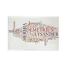 Midsummer Night's Wordle Rectangle Magnet (10 pack