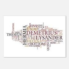 Midsummer Night's Wordle Postcards (Package of 8)
