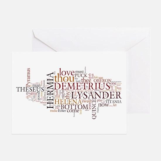 Midsummer Night's Wordle Greeting Card