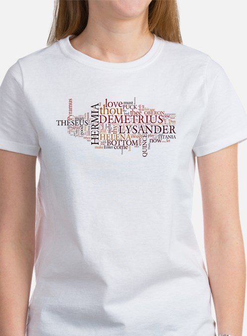 Midsummer Night's Wordle Women's T-Shirt
