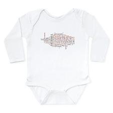 Midsummer Night's Wordle Long Sleeve Infant Bodysu