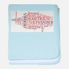 Midsummer Night's Wordle baby blanket