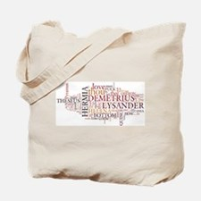Midsummer Night's Wordle Tote Bag