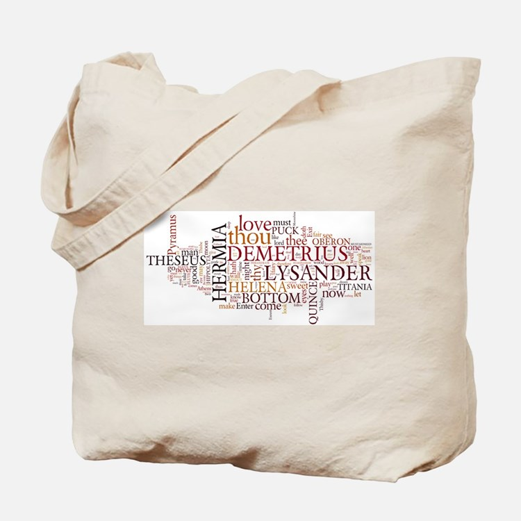 Midsummer Night's Wordle Tote Bag
