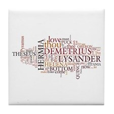 Midsummer Night's Wordle Tile Coaster