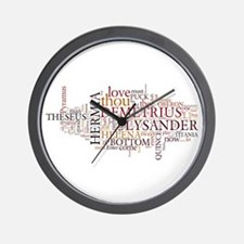 Midsummer Night's Wordle Wall Clock