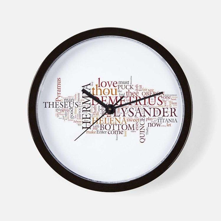 Midsummer Night's Wordle Wall Clock