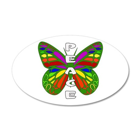Peace Butterfly 35x21 Oval Wall Decal