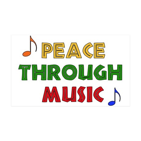 Peace Through Music 38.5 x 24.5 Wall Peel