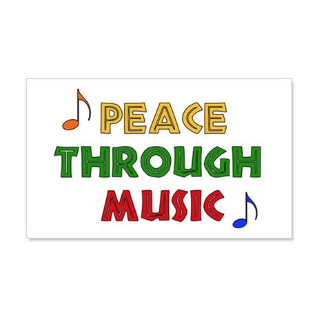 Peace Through Music 22x14 Wall Peel