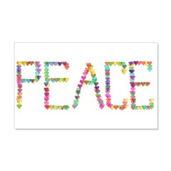 Peace Hearts 22x14 Wall Peel