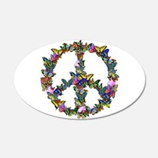 Butterflies Peace Sign Wall Decal