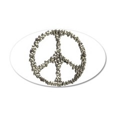 Skulls Peace Sign Wall Decal