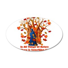 Autumn Pagan Goddess 38.5 x 24.5 Oval Wall Peel