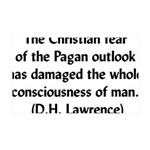 DH Lawrence Pagan Quote 38.5 x 24.5 Wall Peel