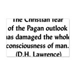 DH Lawrence Pagan Quote 22x14 Wall Peel