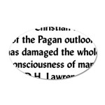 DH Lawrence Pagan Quote 22x14 Oval Wall Peel