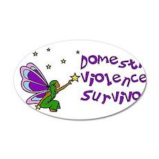 Domestic Violence Survivor 22x14 Oval Wall Peel