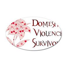 Domestic Abuse Survivor 22x14 Oval Wall Peel
