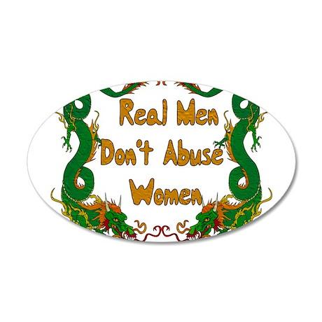 Ending Domestic Violence 38.5 x 24.5 Oval Wall Pee