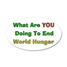 End World Hunger 38.5 x 24.5 Oval Wall Peel