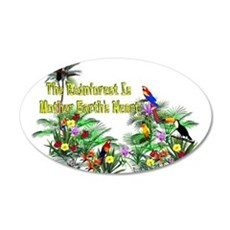 Save The Rainforest 22x14 Oval Wall Peel