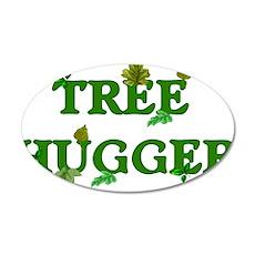 Tree Hugger 22x14 Oval Wall Peel