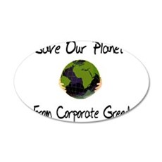 Save Our Planet 22x14 Oval Wall Peel