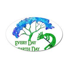 Earth Day Kokopelli 22x14 Oval Wall Peel