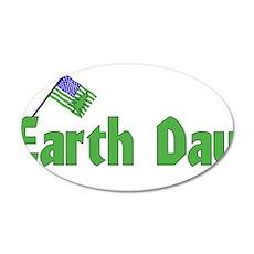 Celebrate Earth Day 22x14 Oval Wall Peel