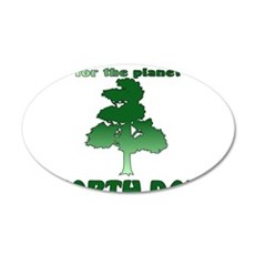 Plant An Earth Day Tree 22x14 Oval Wall Peel