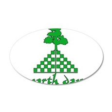 Earth Day Mountain and Tree 22x14 Oval Wall Peel