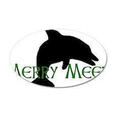 Merry Meet Spirit Dolphin 22x14 Oval Wall Peel