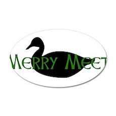 Merry Meet Spirit Duck 22x14 Oval Wall Peel